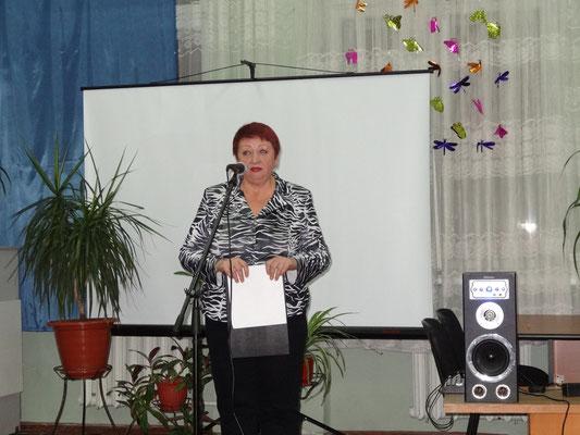 Татьяна Петровна Листопадова, зам.директора ЦГБ г. Шахты, организатор выставки.