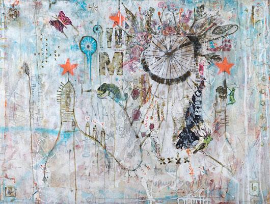 """Inside the Flower Factory"", 125 x 95 cm auf Leinwand"