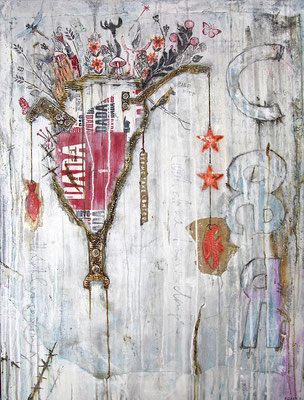 """""""Gemengelage 1"""", 95 x 125 cm auf Leinwand"""