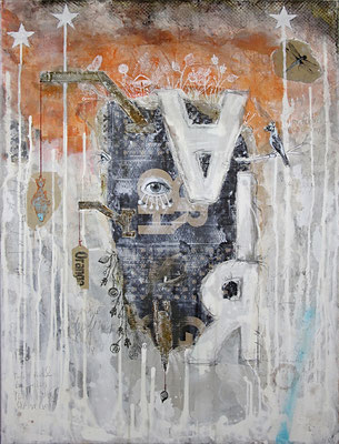 """""""Air"""", 95 x 125 cm auf Leinwand"""
