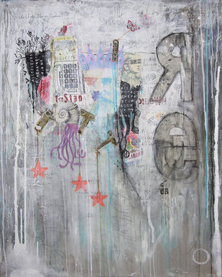 """""""There was a King in my Garden"""", 95 x 125 cm auf Leinwand"""