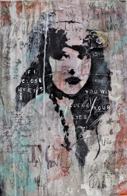 """She won´t close her eyes"", 40 x 60 cm auf Leinwand"