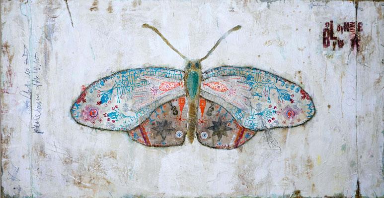 """Papillon"", 180 x 95 cm auf Leinwand"