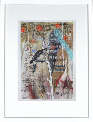 """The stars are alive, tonight"",  ca. 19 x 27 cm auf Leinwand"