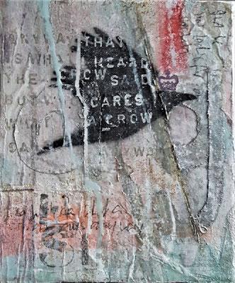 """""""Crow II"""", 25 x 30 cm auf Leinwand"""