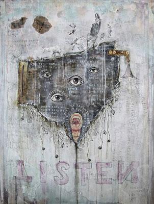 """""""Listen"""", 95 x 125 cm auf Leinwand"""