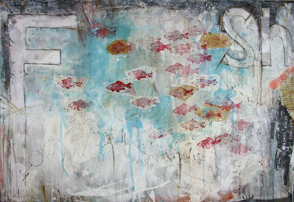"""Fish"", 150 x 100 cm auf Leinwand"