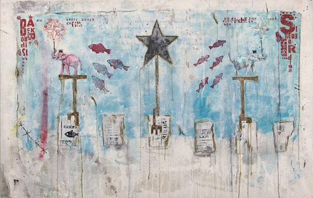 """""""Navigate me home"""", 165 x 105 cm auf Leinwand"""