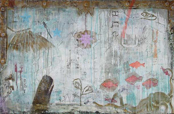 """The new Habitat"", 130 x 85 cm auf Leinwand"