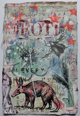 """I am safe now"", ca. 19 x 27 cm auf Leinwand"