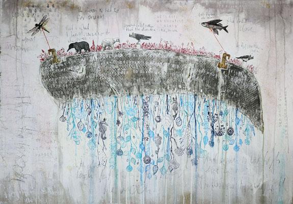 """""""Over the Moon"""", 135 x 90 cm auf Leinwand"""