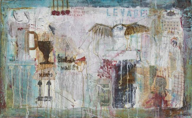 """""""Der Beginn des Fluges"""", 130 x 80 cm auf Leinwand"""