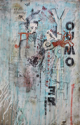 """""""Your Mother knows"""", 100 x 160 cm auf Leinwand"""