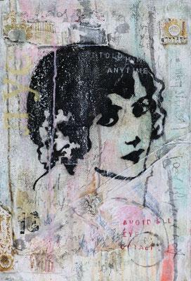 """""""La femme noire"""", 40 x 60 cm auf Leinwand"""