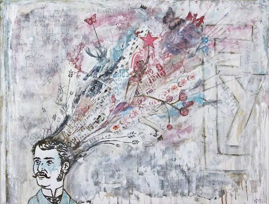 """Mind"", 125 x 95 cm auf Leinwand"