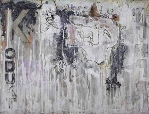 """""""Konsumprodukt"""", 140 x 100 cm auf Leinwand"""