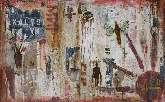 """Analyse VII"", 130 x 80 cm auf Leinwand"