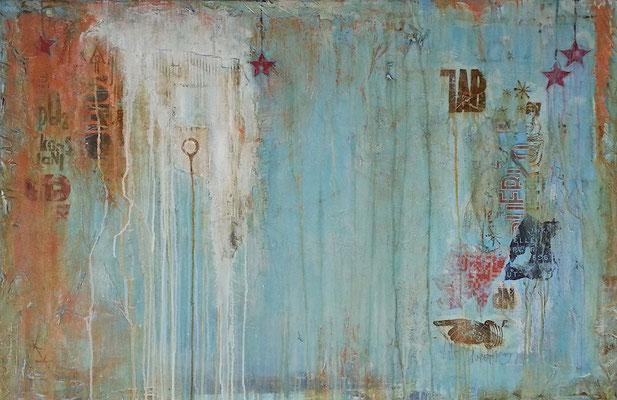 """Richtung 17"", 130 x 85 cm auf Leinwand"