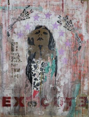 """Execute"", 95 x 125 cm auf Leinwand"