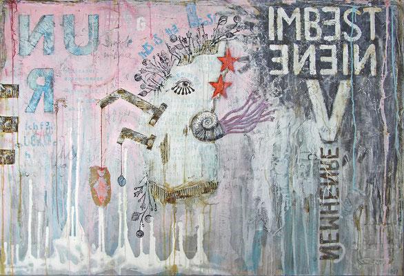 """""""Im besten Einvernhemen"""", 145 x 100 cm auf Leinwand"""