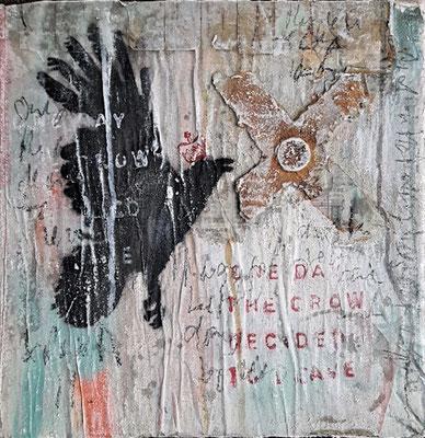 """""""Crow I"""", 30 x30 cm auf Leinwand"""