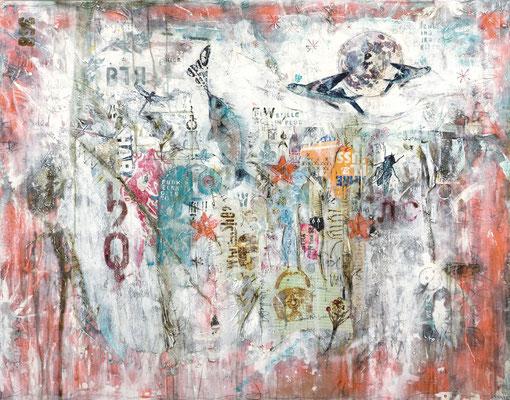 """Where fishes go"", 140 x 110 cm auf Leinwand"