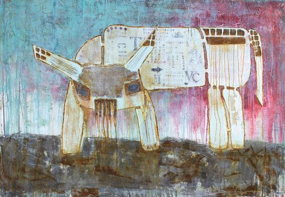 """Gigant"", 160 x 110 cm auf Leinwand"