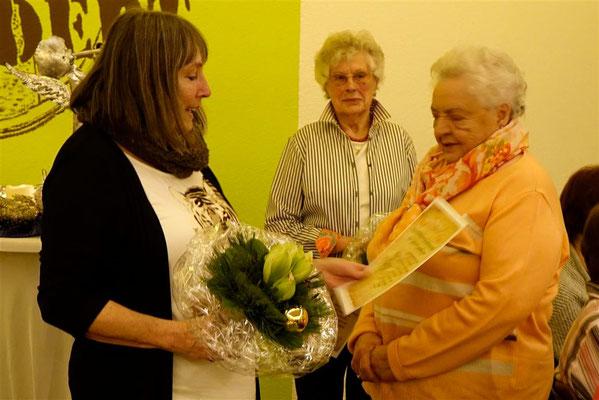 Gratulation von Hedwig Bingold zu 50 Jahren Breithardt