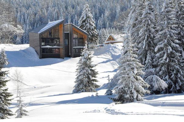 Paysage d'hiver - Chambres d'hôtes, chalets d'hôtes, suites familiales, Haut Jura