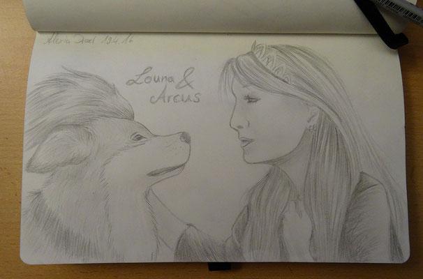 Skizzenbuch: 9. Skizze Louna & Arcus