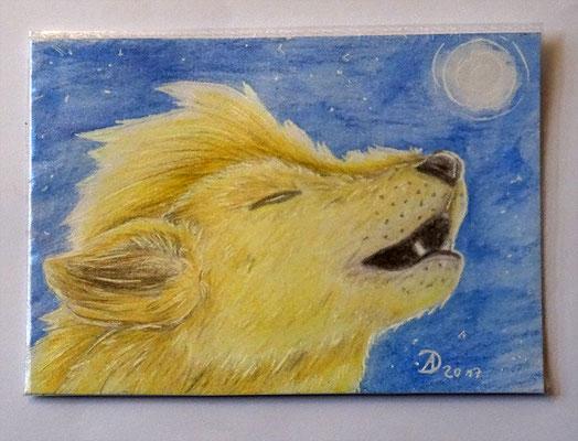 23. Wolf Kyon 8,9 x 12,8 cm - Verschenkt