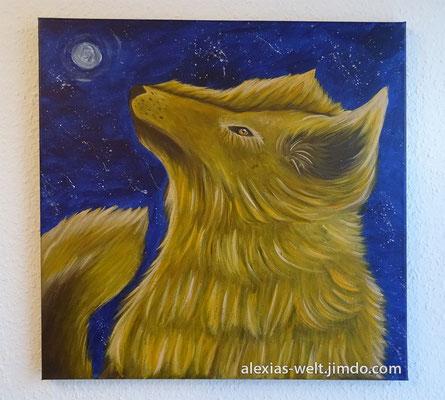 Wolf Kyon, Leinwand 50x50 cm Acrylfarben, März 2016