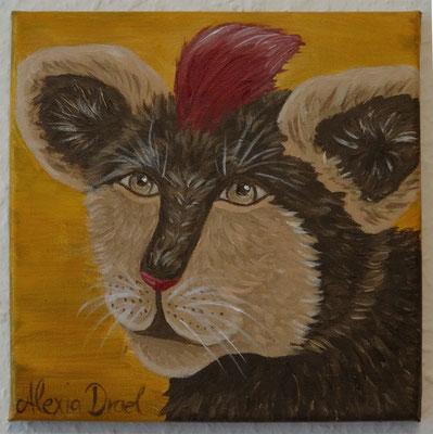 Leufeo - Preis für einen veranstalteten Wettbewerb, 20x20 cm Leinwand, Acryl (verschenkt)