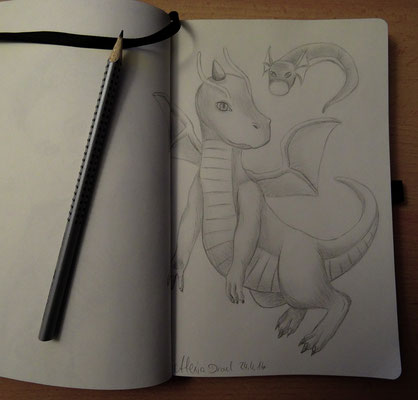Skizzenbuch: 15. Skizze Dragonite