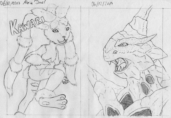 Skizze zu Maxikarte Mega-Pokémon