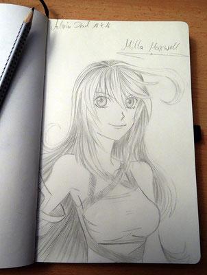 Skizzenbuch: 7. Skizze Milla Maxwell