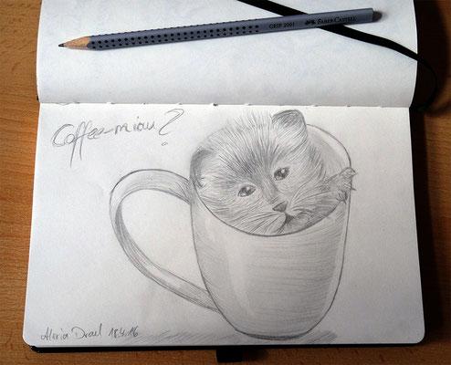 Skizzenbuch: 6. Skizze Catpuccino