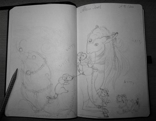 Skizzenbuch: 34. Skizze Ampharos