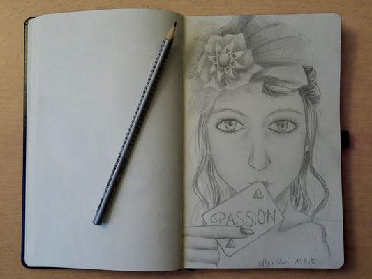 Skizzenbuch: 3. Skizze Passion