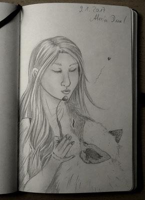 Skizzenbuch: 356. Skizze Louna + Arcus