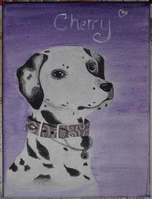 Cherry, 18 x 24 cm Leinwand, 31.12.2014