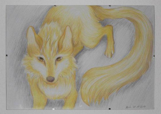 Wolf, Aquarell Stifte, 31.10.2014
