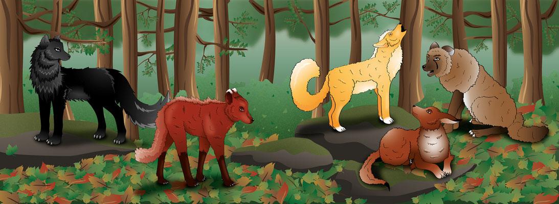 Wolfsarten von Lupus et Lupa