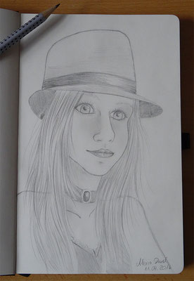Skizzenbuch: 3. Skizze Portrait