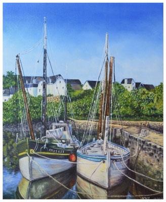 Le port Rhue - Bretagne - HUILE