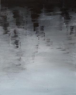 Wasserwerke - innen & außen IV/1, 2021, Acryl auf Leinwand, 50 x 40 cm