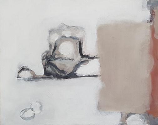 Wasserwerke - innen & außen I/2, 2021, Acryl auf Leinwand, 40 x 50 cm