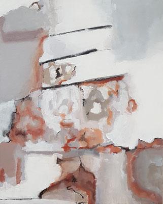 Wasserwerke - innen & außen II/2, 2021, Acryl auf Leinwand, 50 x 40 cm