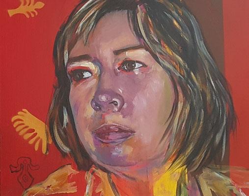 Naim & Christiane, 2018, Diptychon Teil II, Acryl auf Leinwand, 50 x 60 cm