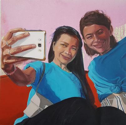Life is beautiful II, 2021, Acryl auf Leinwand, 80 x 80 cm